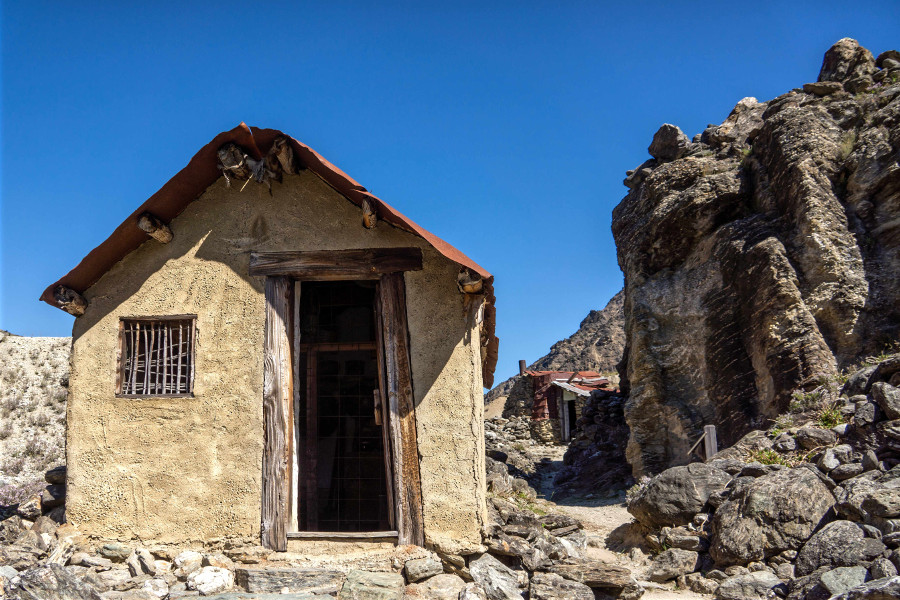 10th century gold mining cottages Cromwell, Otago, New Zealand