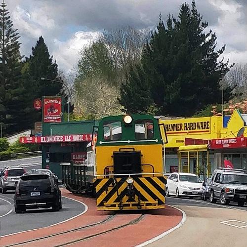 Kawakawa vintage train route through town, New Zealand