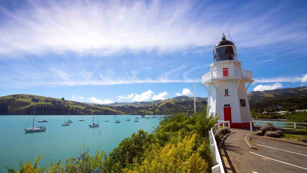 Akaroa's lighthouse, Akaroa, New Zealand @newsline
