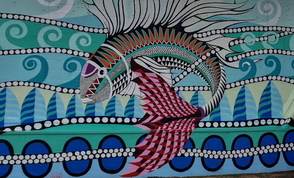 Art Escape street art fish, New Zealand