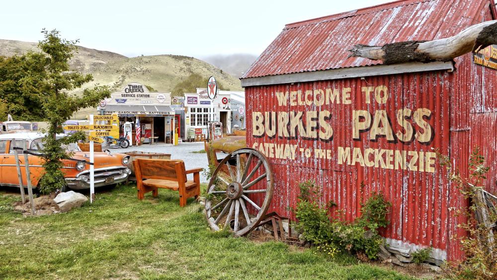 American Historic Vehicle. Retro Museum in Burke Pass. New Zealand