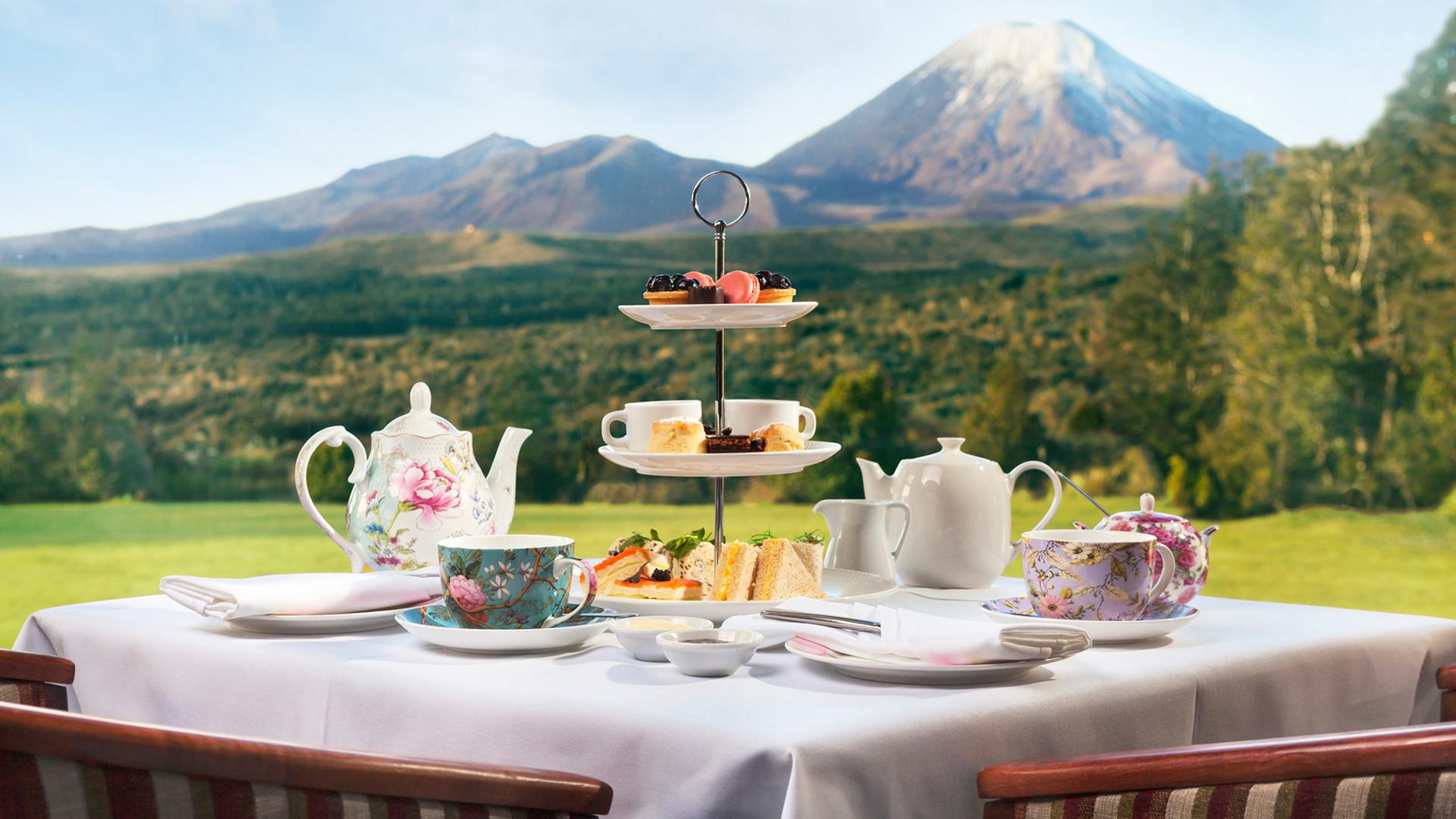 Chateau Tongariro High Tea, New Zealand @Visit Ruapehu