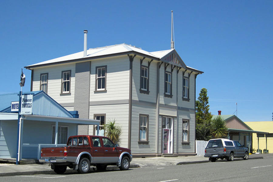Collingwood heritage Post Office, New Zealand @Twin Waters Lodge