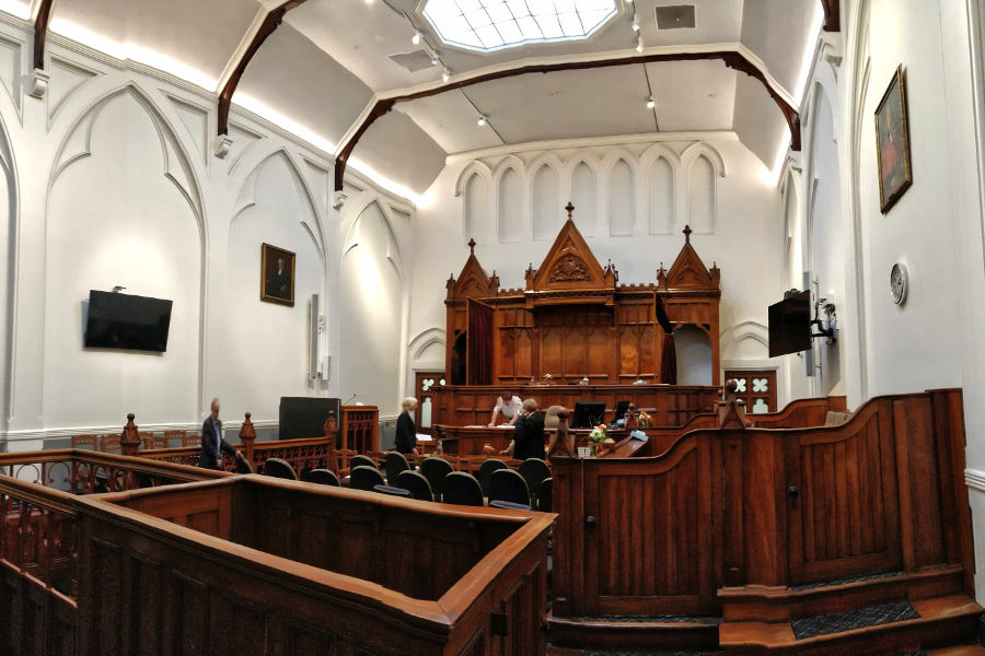 Dunedin historic Law Courts, Dunedin, New Zealand