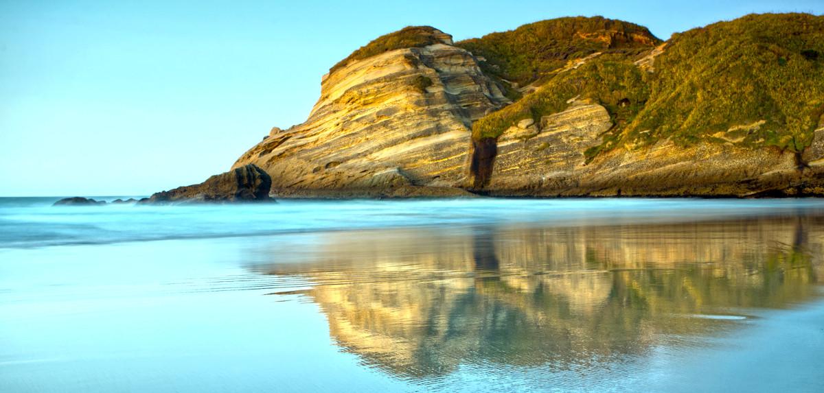 Dusk on Wharariki Beach Nelson South Island New Zealand
