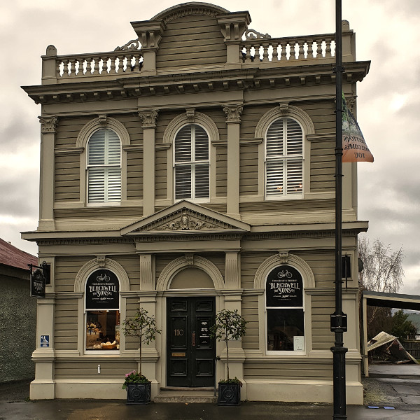 Greytown bicycle shop front entrance, New Zealand