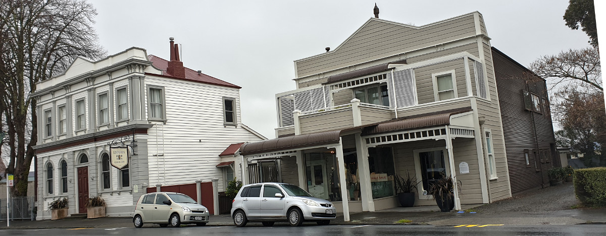Greytown, the old, new and repurposed melded into an attractive main street frontage