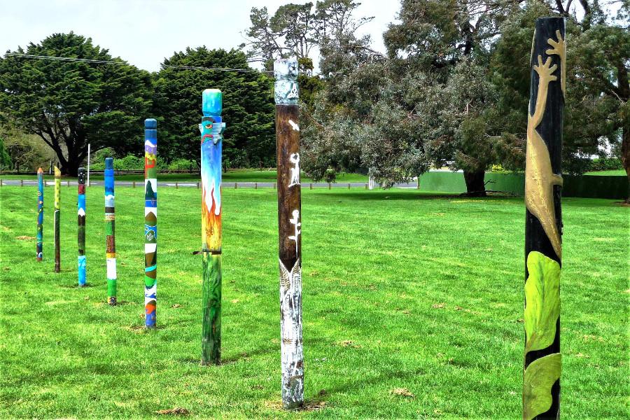 PouKorero - Talking Poles, Hawera, New Zealand