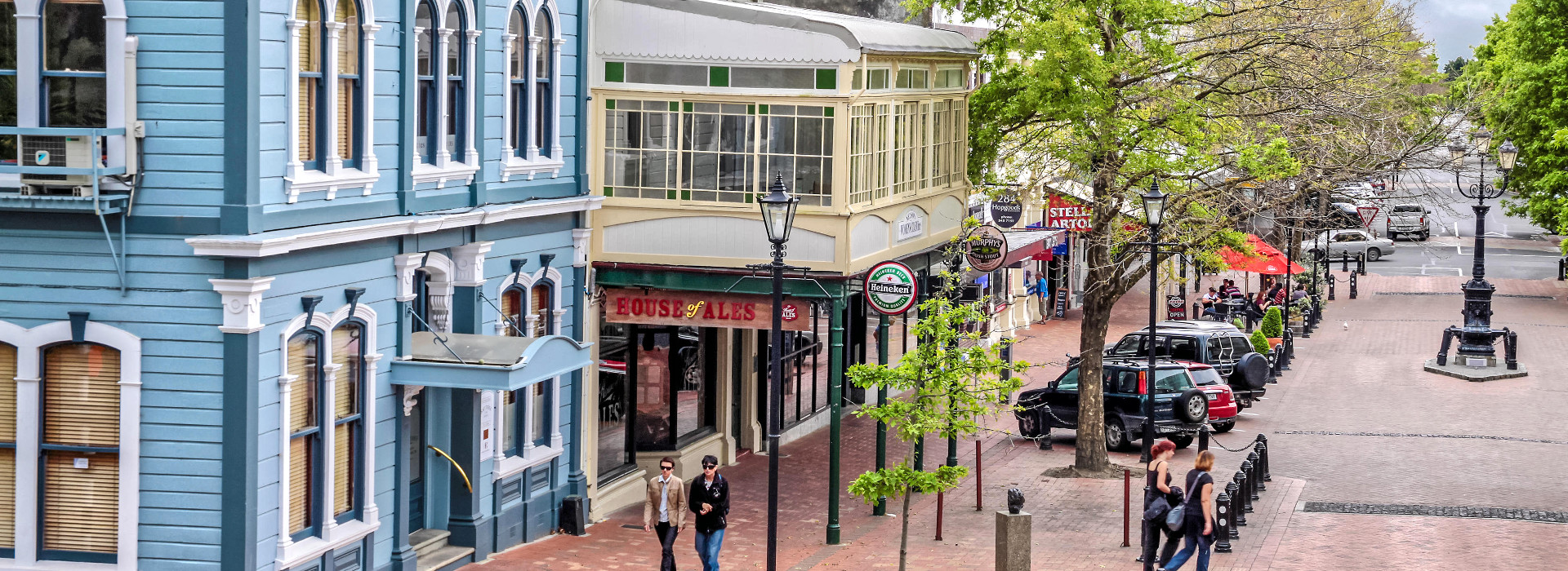 Historic Nelson viewed from Cathedral steps