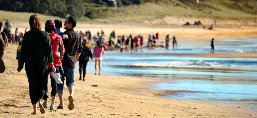 Hot Water Beach tourist hot spot, New Zealand