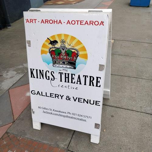 Kawkawa cinema converted into art gallery, New Zealand