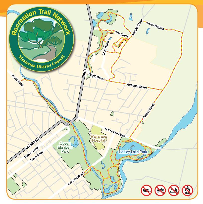 Masterton Recreational Trails map