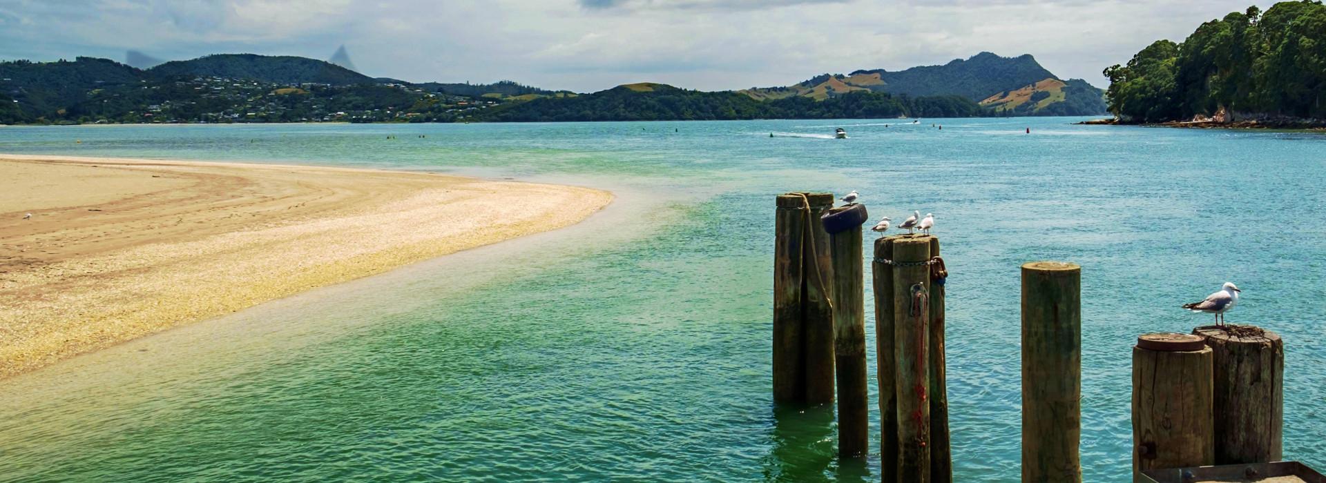 Mercury Bay at Whitianga on New Zealand's Coromandel Peninsula.