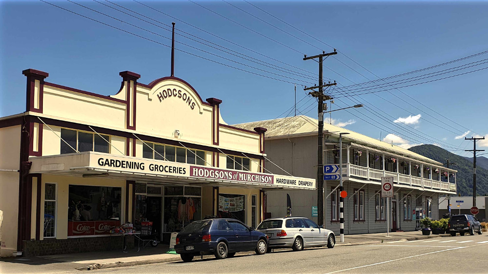 Murchison, general store, a pub or two, cafes and museum,New Zealand