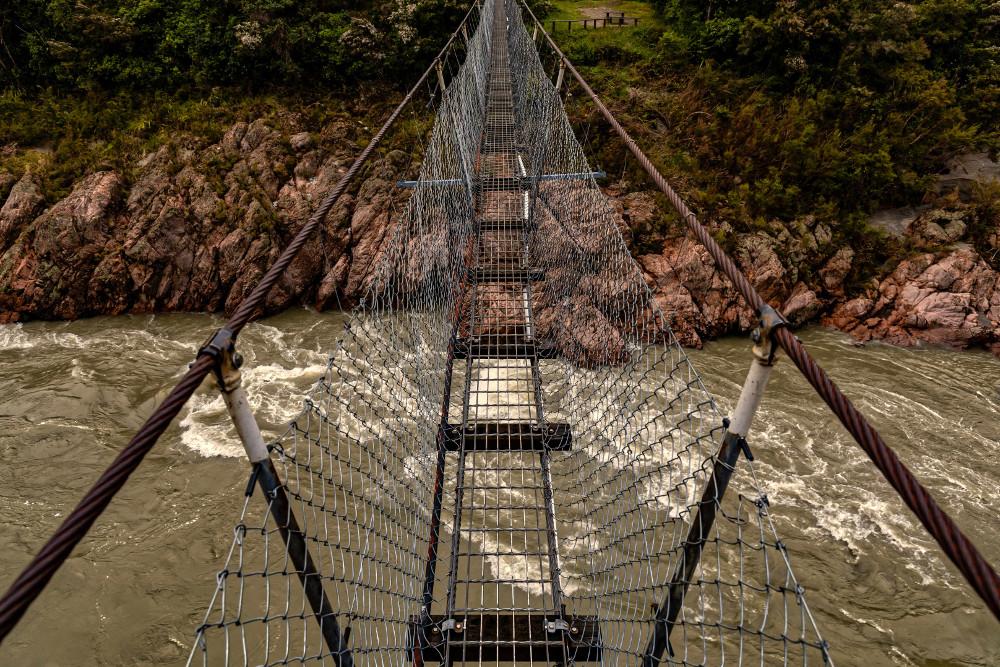 New Zealand's longest swingbridge at 110 metres (360 ft) in length spans the Buller River 14 kilometres west of Murchison in the Upper Buller Scenic Reserve