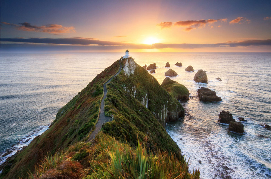 Nugget Point Lighthouse, New Zealand @Chris Gin