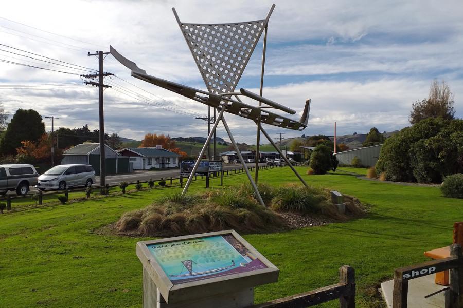 Waka sculpture, Owaka, New Zealand @Mary Jane