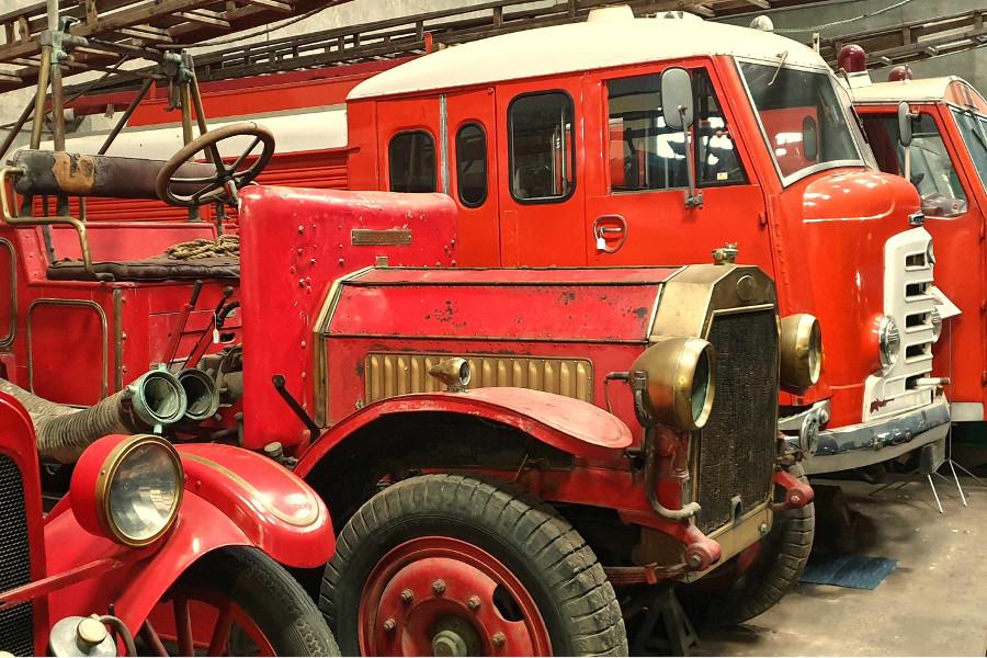 Packard Motor Museum vintage fire engines, New Zealand