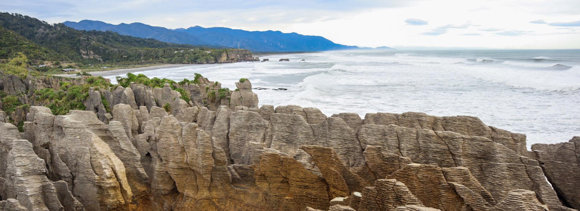 Pancake Rocks, New Zealand @Nothing familiar