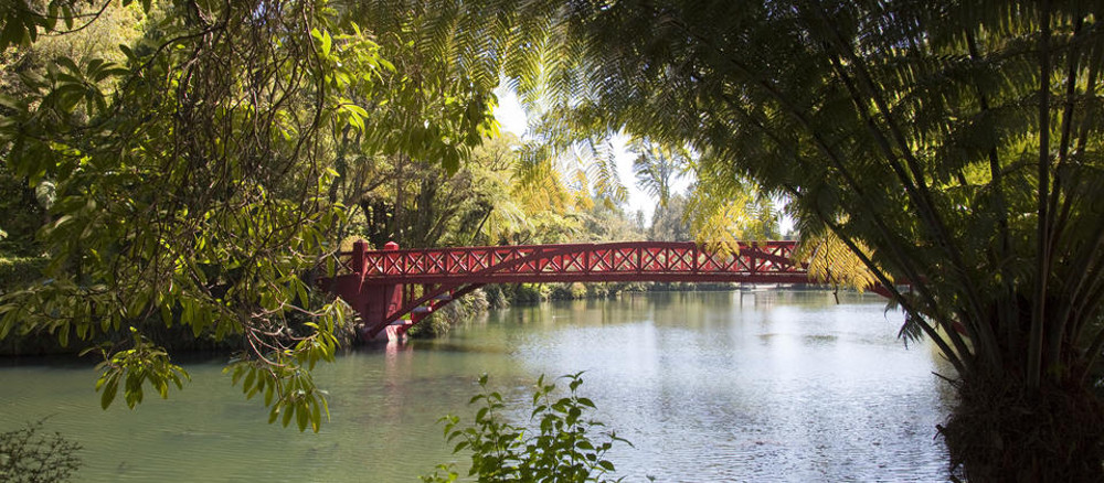 Poet's Bridge, Pukekura Park @New Zealand