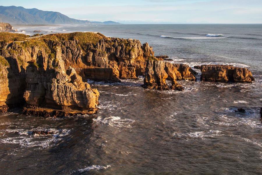 Punakaiki Pancake Rocks and Blowholes, New Zealand @Auckland i-SITE