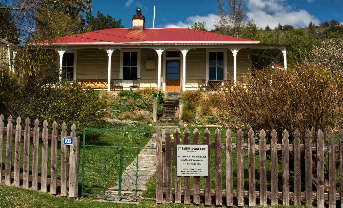St Bathans former police camp now accommodation, New Zealand