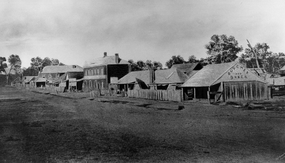 Stevenson street Murchison Circa 1860, New Zealand @murchisonhistoricalsociety