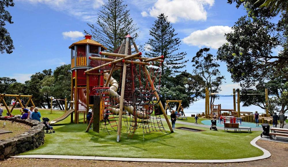 Takapuna Beach Reserve Playground, Auckland, New Zealand @Explore North Shore