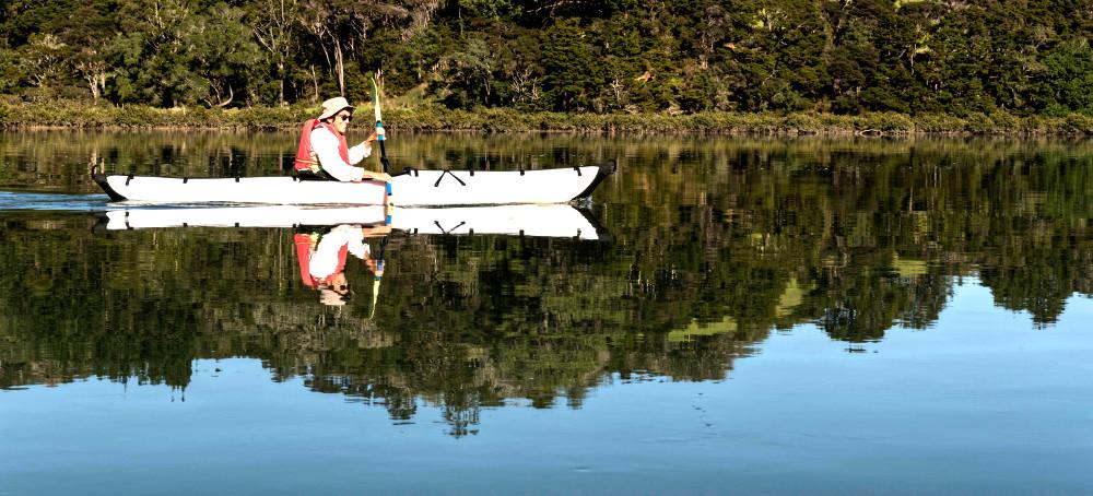 Wenderholm Regional Park, kayaking Puhoi River, New Zealand