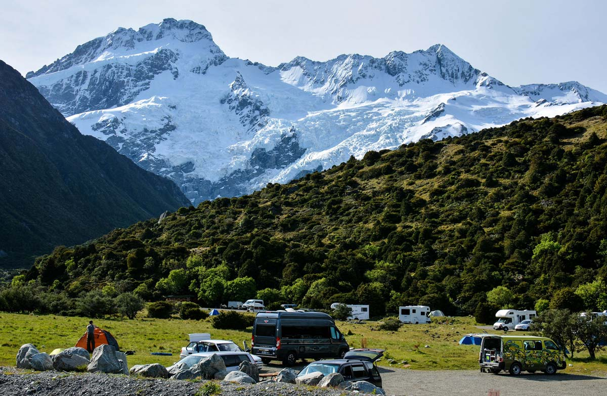 White Horse Hill Campground, New Zealand @Shellie Evans