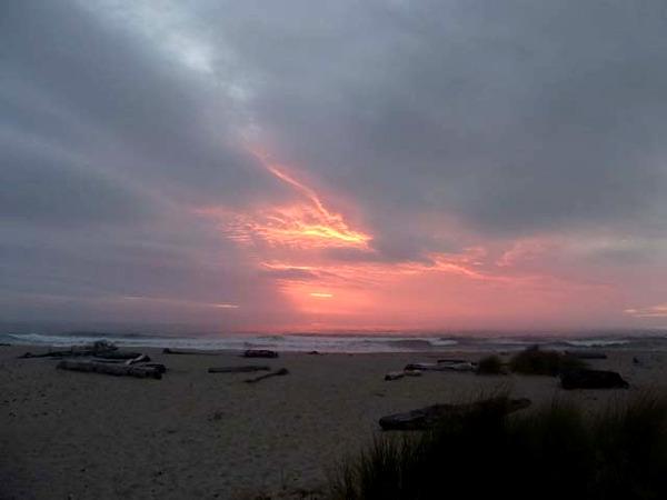 Zig-zag track overlooking Kohaihai sunset, Karamea, New Zealand @brvannini