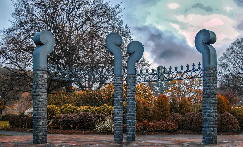 Dunedin Botanic Gardens entrance,New Zealand