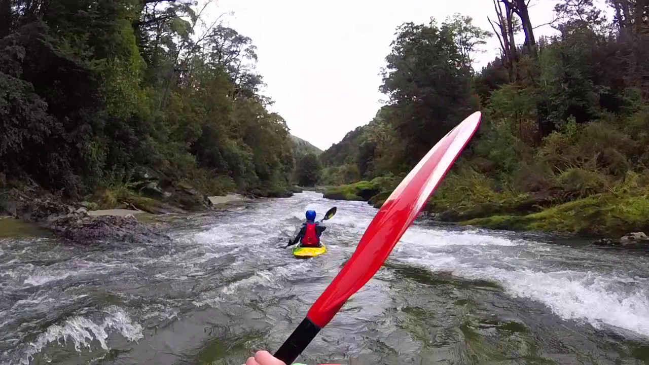 Kayaking the Buller river,New Zealand @Blair Waller
