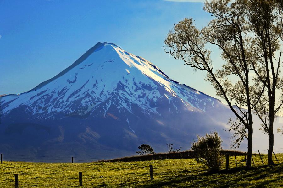 Mt Taranaki at dusk, New Zealand