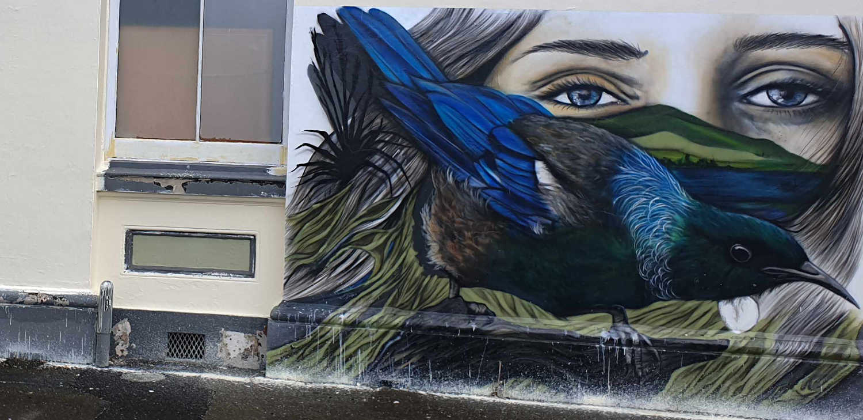 Riverton street art,New Zealand