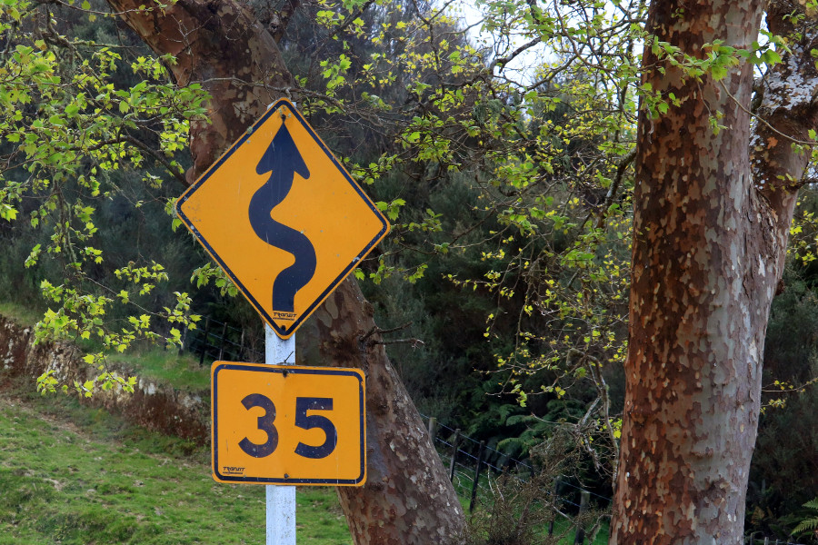 Steep sharp corners, gorges and peaks of NZ backroads