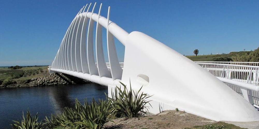 Te Rewa Rewa Bridge, New Zealand @Mapio.net