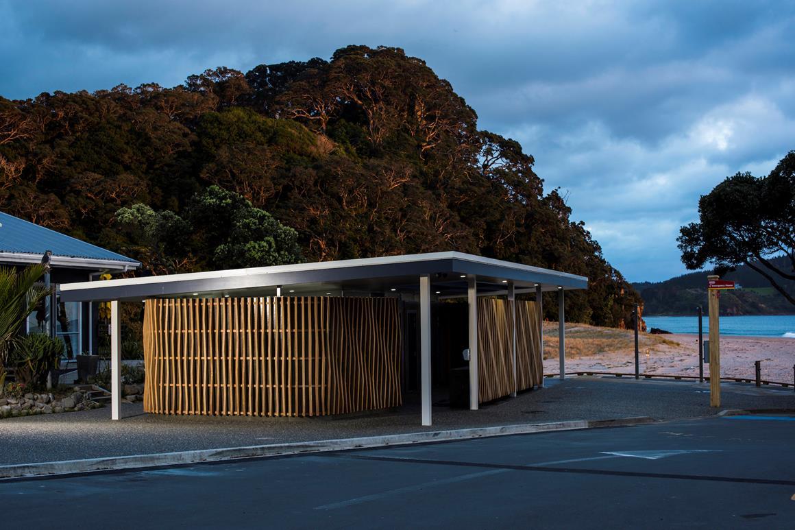 Hot Water Beach toilet,New Zealand @Thames-Coromandel District Council