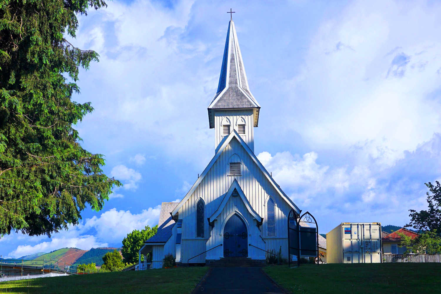Richmond, South Island, New Zealand. Holy Trinity Anglican Church in Late Afternoon Light