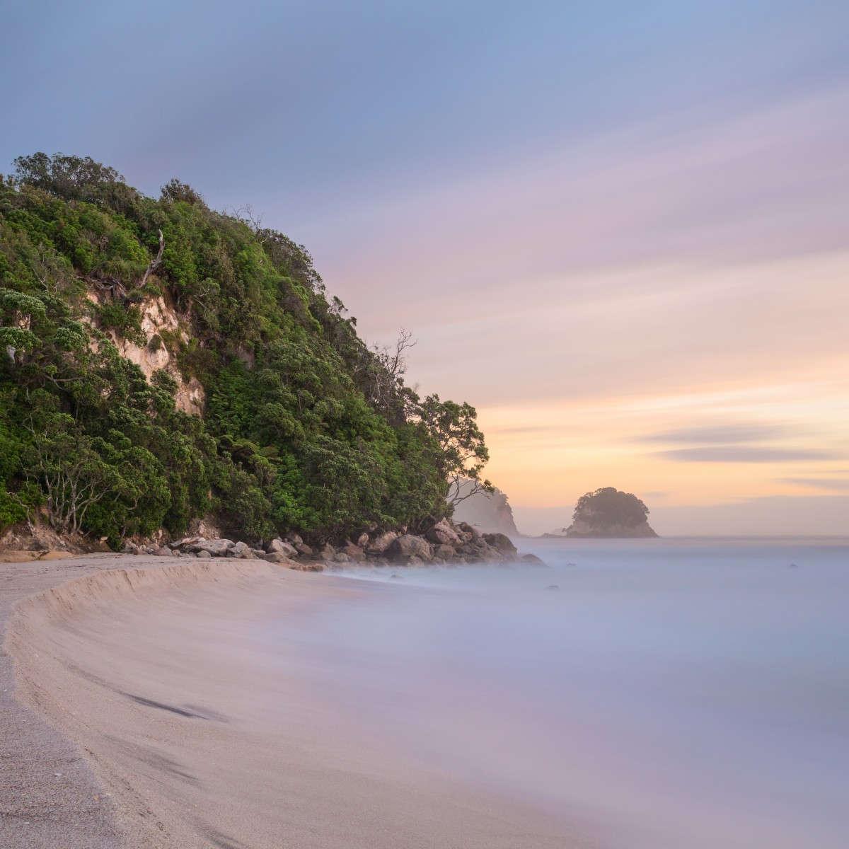 Whiritoa Beach and Waimama Bay,New Zealand @The Coromandel