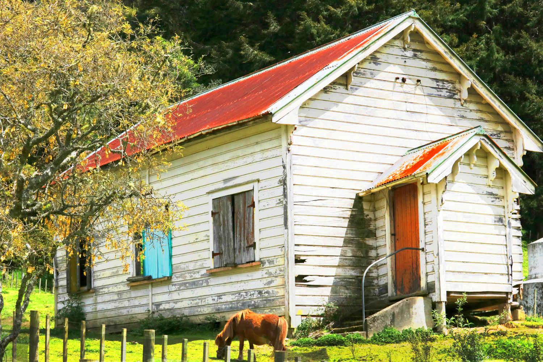 Abandoned Catholic church,New Zealand