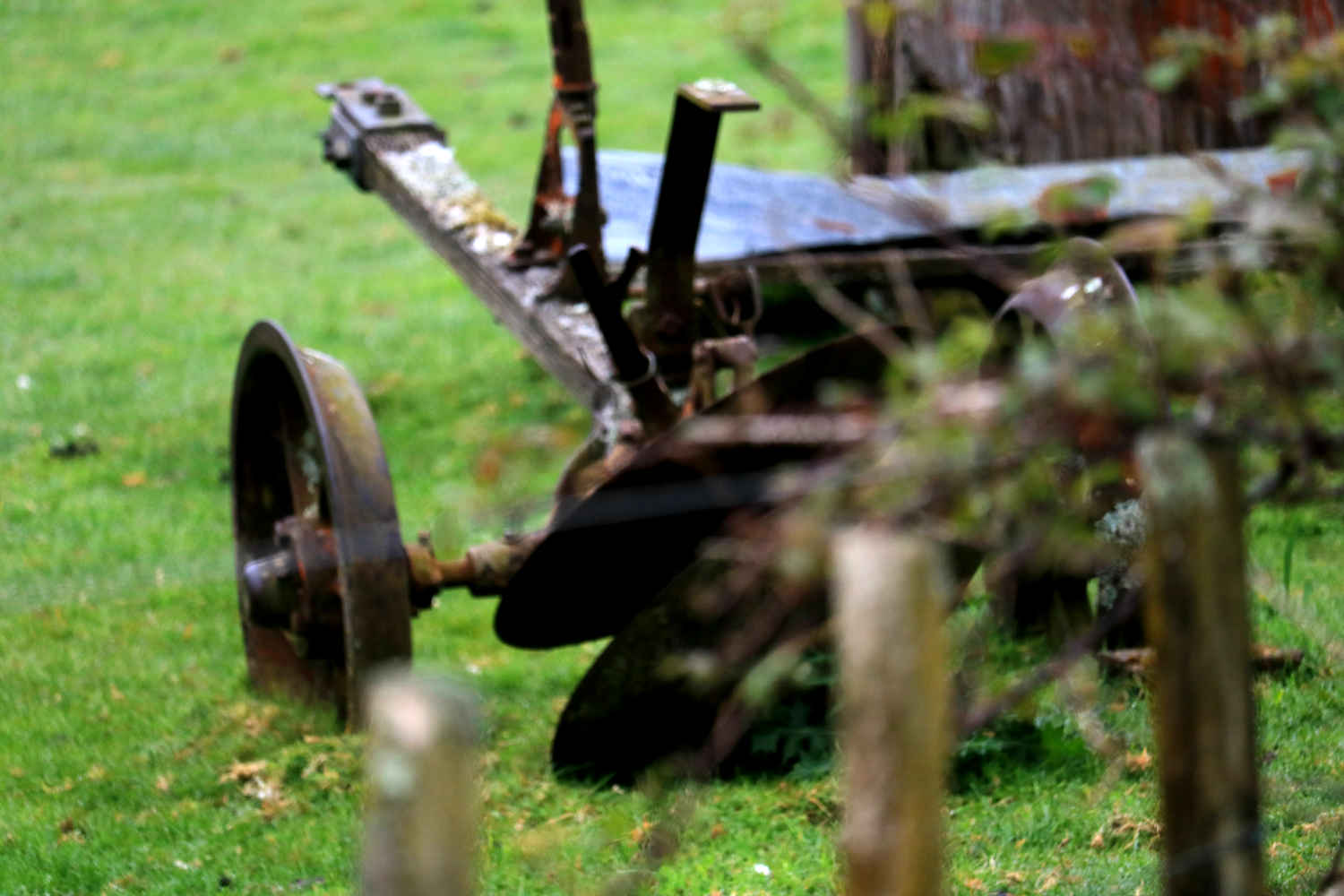 Agricultural equipment returning to nature, New Zealand
