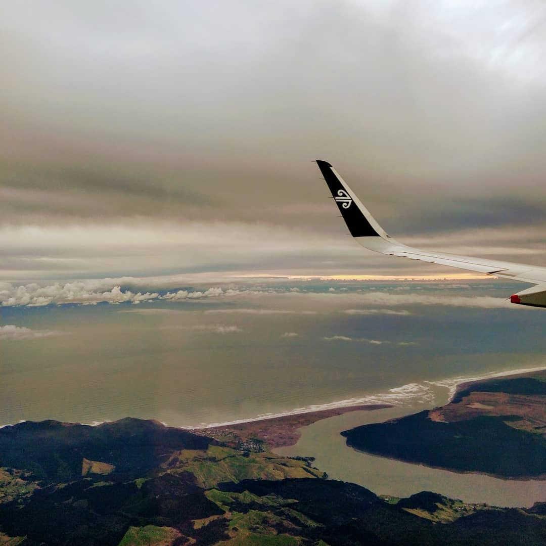 Air NZ over Marlborough,New Zealand