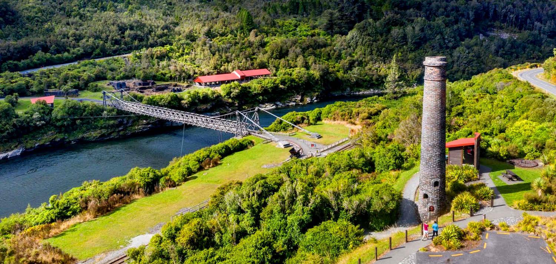 Brunner Mine Site, New Zealand @Tohu Whenua