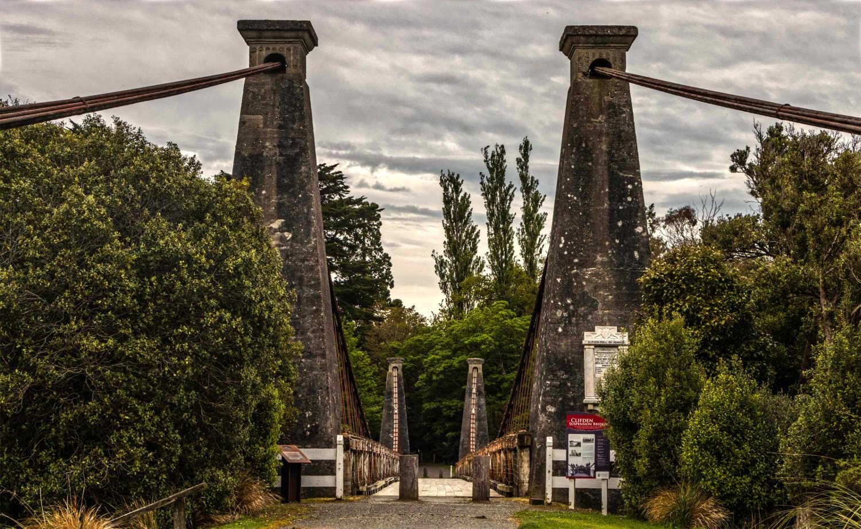 Clifden Suspension Bridge, South Island, New Zealand