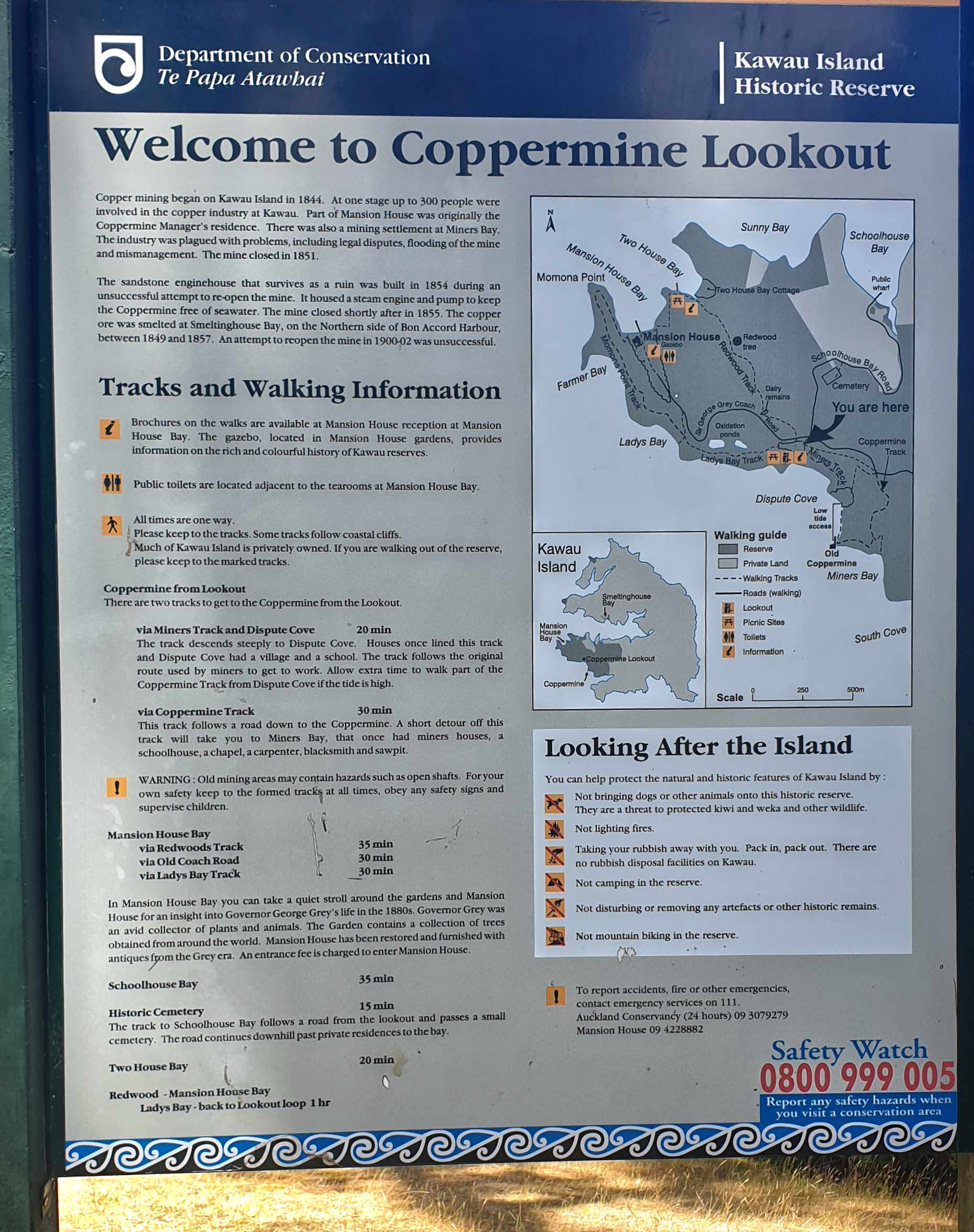 Coppermine Lookout Kawau Island, Auckland