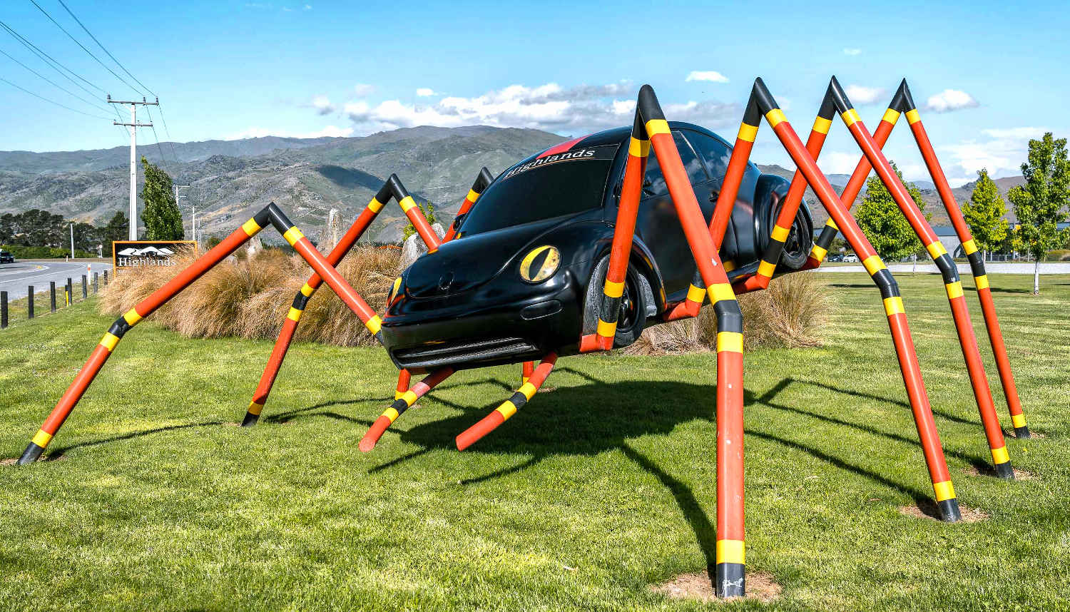 Copy of Cromwell beetle sculpture Highland Car Museum,New Zealand