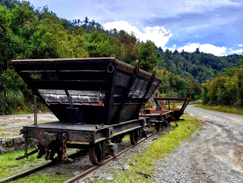 Denniston coal wagons, New Zealand