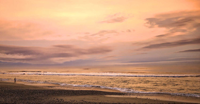 Greymouth beach sunset, Greymouth,New Zealand