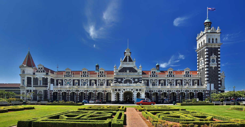 Historical Railway Station of Dunedin, New Zealand